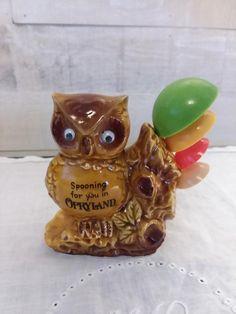3 Porcelain Owls on Tree Branch Mama Owl /& 2 Owlets Vintage Figurine Japan