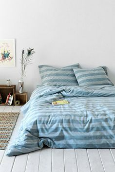 4040 Locust Sun-Faded Stripe Duvet Cover - Urban Outfitters