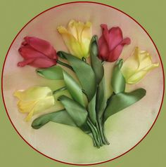 вышивка лентами тюльпаны: 12 тыс изображений найдено в Яндекс.Картинках