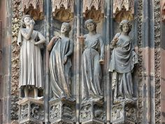 cathedral of Strasbourg - Vierges folles Notre Dame Strasbourg, Strasbourg Cathedral, Medieval Wedding, Medieval Art, Chapelle, Gothic Architecture, Gothic Art, Our Lady, Oeuvre D'art