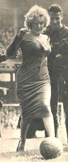Marilyn at Ebbets Field, 1957.