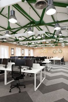 Interior Design Of Office Space . Interior Design Of Office Space. Industrial Office Studio On Behance Cool Office Space, Office Space Design, Office Workspace, Office Interior Design, Office Interiors, Office Designs, Industrial Office Design, Industrial House, Industrial Chic