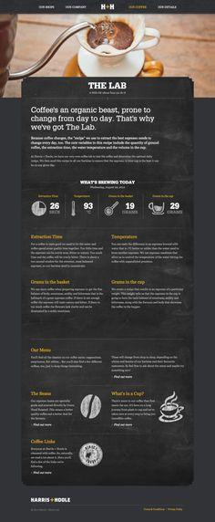 Unique Web Design, Harris + Hoole via @wwdesigns #WebDesign #Design #Coffee