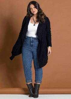 Style Casual Chic Office Wear 68 Ideas For 2019 Plus Size Fall Outfit, Plus Size Casual, Plus Size Jeans, Casual Plus Size Outfits, Plus Size Winter Outfits, Basic Fashion, Curvy Fashion, Plus Size Fashion, Moda Fashion