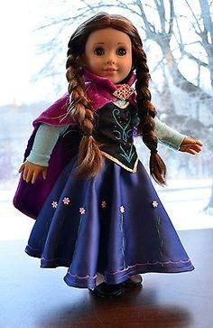 """Still working on mine.    Anna's Dress in """" Frozen """" - Journey Girls -Luminaria"""
