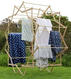 Ditch the Clothesline for a DIY Expanding Star Drying Rack | The Homestead Survival