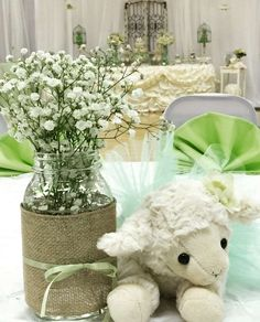 Sheep / Lambs Baby Shower Party Ideas | Photo 8 of 16
