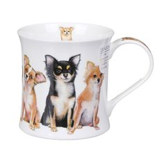 Dunoon Designer Dogs Chihuahuas Wessex Shape Mug   Temptation Gifts