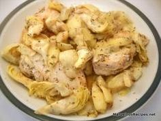 Super easy creamy chicken with artichokes recipe for the slow cooker...yummy!
