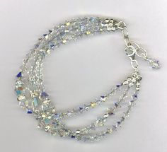 Swarovski Crystal Bridal Custom Bracelet by MP Designs Jewelry