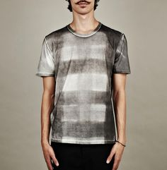 MAISON MARTIN MARGIELA PRINTED CHECK DESIGN T-SHIRT
