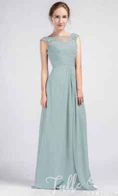073c70360bd Vintage Sleeveless Lace and Chiffon Bridesmaid Dress With Illusion Back  TBQP337