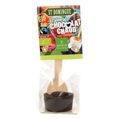 Bovetti chocolats - Bâtonnet pour boisson chocolatée - Chocolat noir St Domingue Bio Organic Dark Chocolate, White Chocolate, Legume Bio, Blackberry Syrup, Chocolate Spoons, Cacao, Cocoa Butter, Clean Eating Snacks, Hot