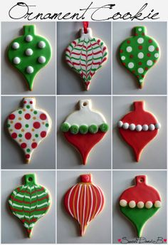Ornament Cookie Inspiration by Sweet Dani B