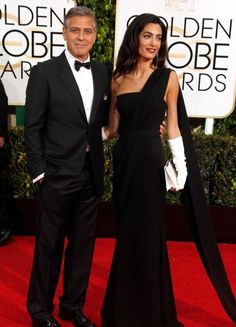 The outfit everyone is talking about... And George. Golden Globes 2015
