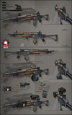 Rise of the Badlands Assault Rifle, Kris Thaler on ArtStation at https://www.artstation.com/artwork/zXdBq