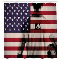 East Urban Home Ambesonne Soccer Shower Curtain Composite Double