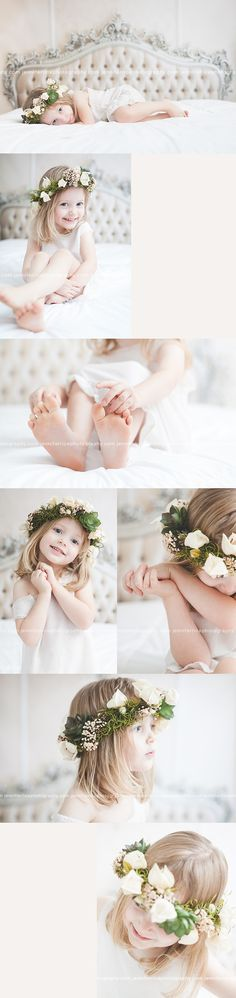 Jennifer Rice Photography | pretty vintage child session, flower crown, children's photography | http://jenniferricephotography.com My beautiful lil' Alexis ♥️ her so much!