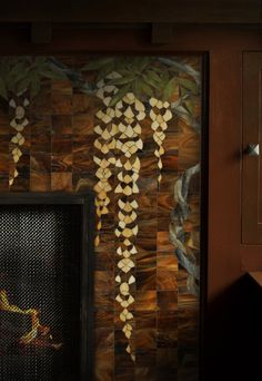 Theodore Ellison Designs - Wisteria Fireplace Mosaic
