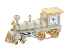 Perfect for train enthusiasts. #FathersDay #gifts #trains -- Steam Engine Train Clock – Two Tone.