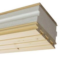 Roof sandwich panel / wood panel face / expanded polystyrene core