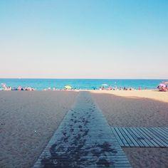 Platja del Coco en Badalona, Cataluña