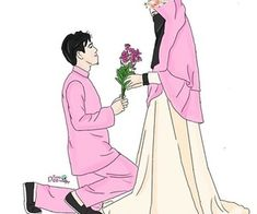 Read Couple Halal from the story Gambar Muslimah by (Zhafira Rochimi) with reads. Wedding Couple Cartoon, Love Cartoon Couple, Cute Couple Art, Cute Love Cartoons, Cute Muslim Couples, Muslim Girls, Cute Couples, Best Facebook Profile Picture, Wallpaper Cave