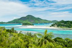 Seychelles on a Shoestring / The view from Cerf Island past Round Island and across the channel to Ste-Anne. Photo by Justin Foulkes