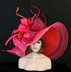 fancy hats by themselves Kentucky Derby Fashion, Kentucky Derby Hats, Turbans, Red Dress Run, Derby Outfits, Red Hat Ladies, Red Hat Society, Cowgirl Hats, Millinery Hats