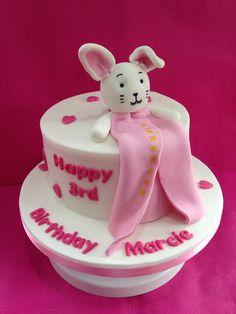 3rd birthday baby blankie cake