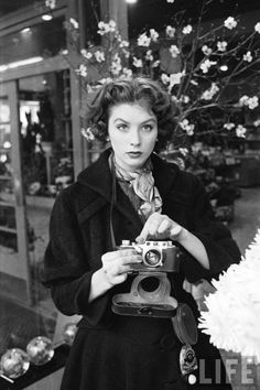 Fashion model, photographer, and actress Suzy Parker, 1953  Peter Stackpole, Life | via LIFE photo archive