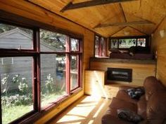 inside the studio truck, spare room, tiny house