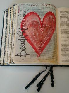Take a peek! / bible art journaling pages journaling - bible Scripture Doodle, Scripture Art, Bible Art, Bible Quotes, Bible Verses, Bible Study Journal, Art Journaling, Scripture Journal, Bible John