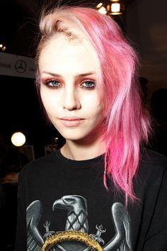 punk-pink hair