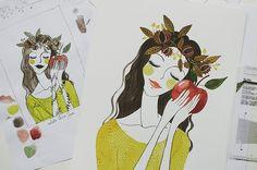 sketch + filal illustration | by oanabefort
