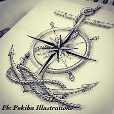 Resultado de imagen para compass anchor tattoo