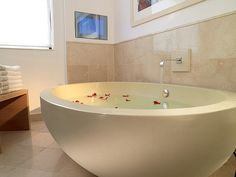 A deep bathtub is an absolute must when we have a house!