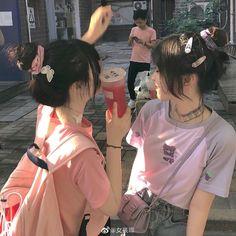Korean Girl Photo, Cute Korean Girl, Asian Girl, Aesthetic Couple, Best Friends Aesthetic, Best Friend Photography, Girl Photography Poses, Bff Girls, Cute Girls