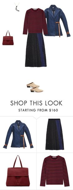 """""""*411"""" by marina-dedovich ❤ liked on Polyvore featuring Loewe, Sacai, Mansur Gavriel and Comme des Garçons"""