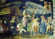 Bologna (BO) - Madonna con i Re Magi di Giovanni da Modena nella Basilica di San Petronio      Bologna (BO) - Madonna con i Re Magi d...