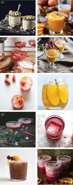 50 cocktail recipes!
