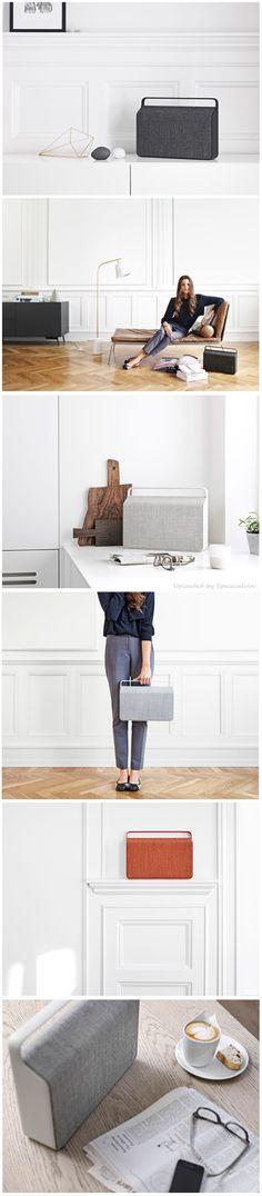 The 'Copenhagen' Portable And Wireless Speaker by Vifa Presentation Layout, 3c, Wireless Speakers, Copenhagen, Industrial Design, Product Design, Aesthetics, Sketch, Mood