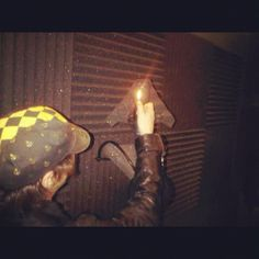 Recording a lighter on fancy mic for a song. Yup. #OurLifeIsReal