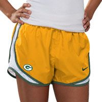 Green Bay Packers Women's Yellow Nike Dri-Fit NFL Tempo Short