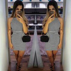 WEBSTA @ senseloja - Bom dia meninas liiindas ❤ A loja está recheada de novidades, e vamos postar durante toda essa semana foto de #looks incríveis 👌📸 Começando por esse #dress suuper estiloso que pode ser usado em uma baladinha 🤘💃 ou como um look para o dia ☉ #looksense #looksly #slywear #listras #moda #style #glam #night #day
