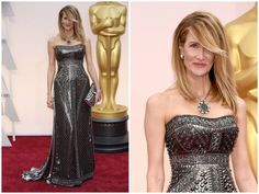 Laura Dern What wore Nominees for best supporting actress on Oscars 2015? See more here: http://everydaytalks.com/oscars-red-carpet-nominees-for-best-supporting-actress/
