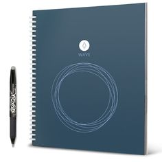 Rocketbook Wave Smart Reusable Notebook - Upload Notes Using iOS/Andriod App and Then Microwave To Clear All Pages. This is a reusable notebook that you can use. You take your notes and you take a photo of them. Then you microwave it use it again. Android, Application Ios, Thing 1, Evernote, Pen And Paper, Cool Gadgets, Cheap Gadgets, Future Gadgets, Tech Gadgets