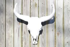 XLFaux Taxidermy White Buffalo / Bison Skull Head Wall Mount - Resin Seer / Cow Skull Home Decor XLBI01
