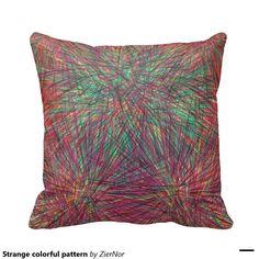 Strange colorful pattern throw pillow