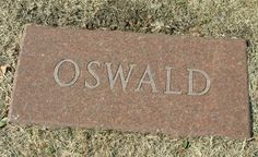 Lee Harvey Oswald, (cause of death: Murdered by Jack Ruby after the killing of JFK) ~ Buried at Shannon Rose Hill Memorial Park, Fort Worth, Texas Cemetery Monuments, Cemetery Headstones, Old Cemeteries, Cemetery Art, Graveyards, Famous Tombstones, Familia Kennedy, Famous Graves, Memorial Park